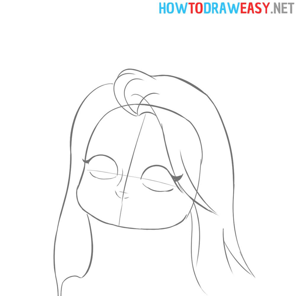 How to Sketch Girl Cartoon