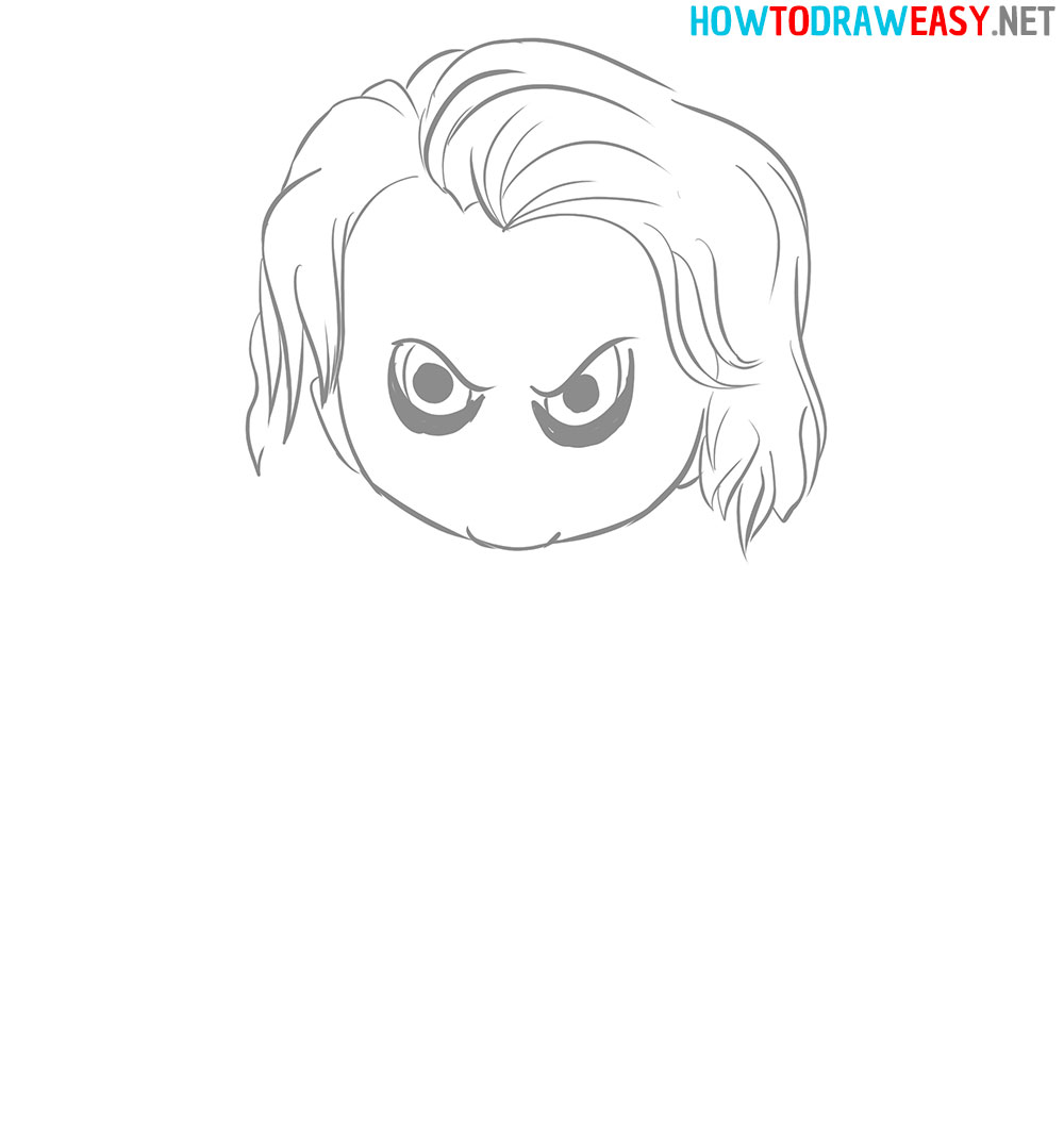 Joker Eyes Drawing