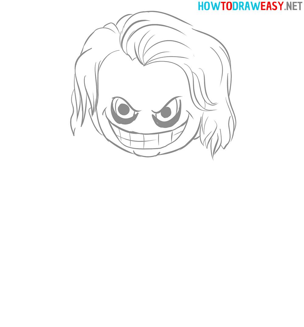 Joker Face Drawing Tutorial