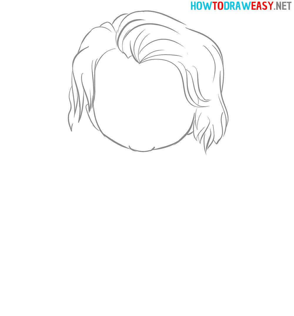 Joker Hair Drawing