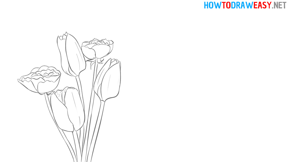 Mothers Draw Flowers Drawing
