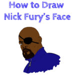 How to Draw Nick Fury's Face