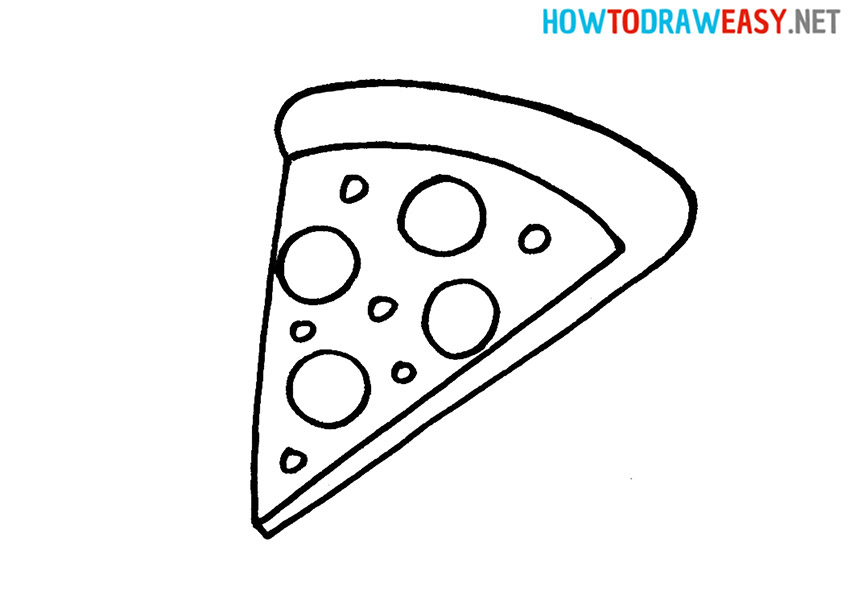 Pizza Easy Drawing Tutorial