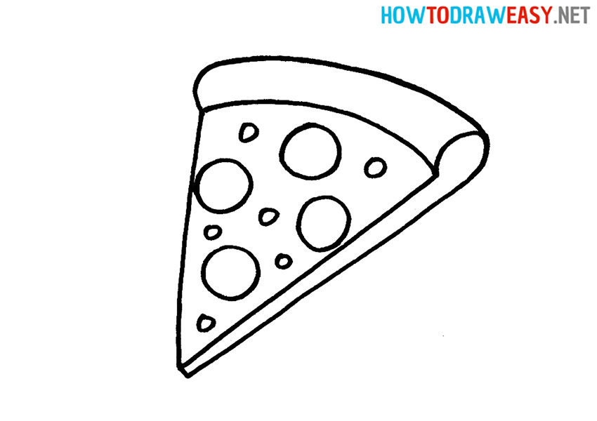 Simple Drawing Pizza