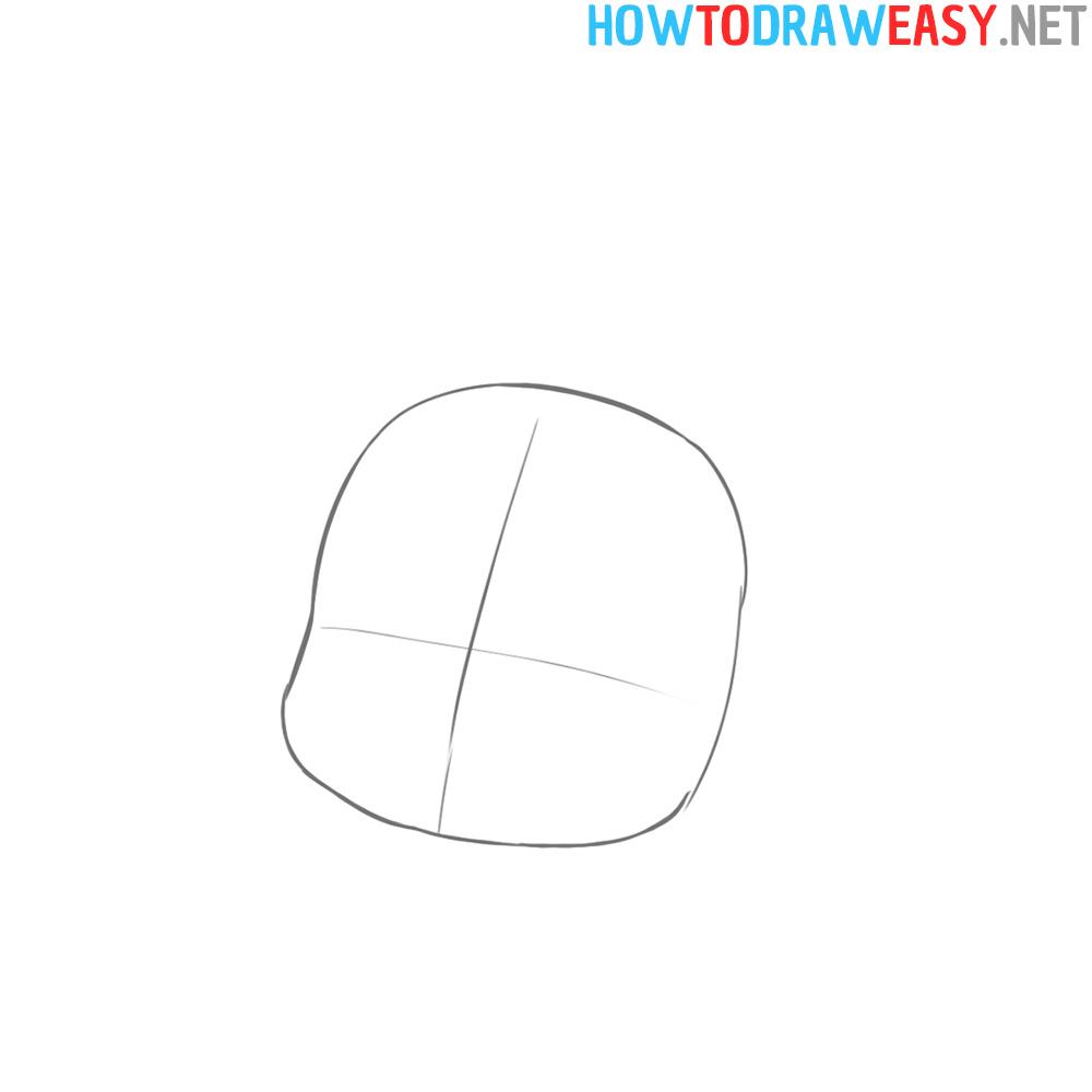 Sketch Chibi Girl Easy