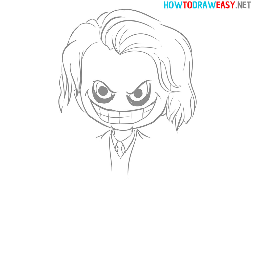 how to draw joker face chibi