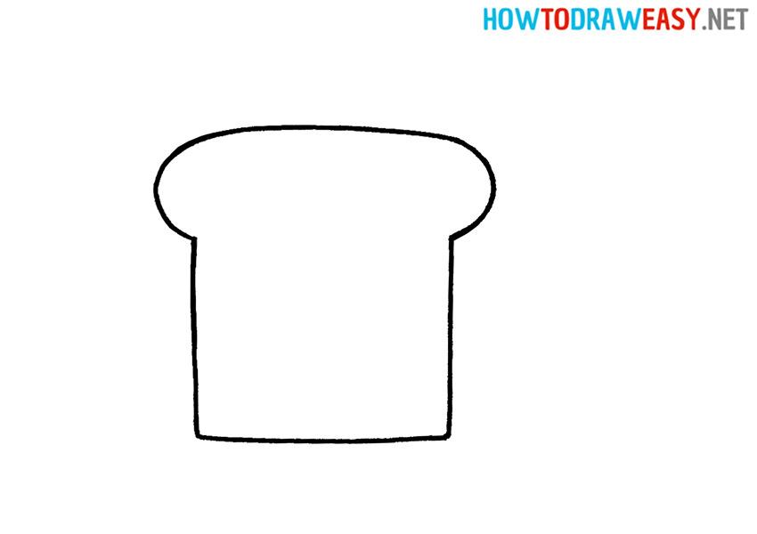 Bread Drawing Tutorial step 1