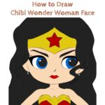 How to Draw Chibi Wonder Woman Face