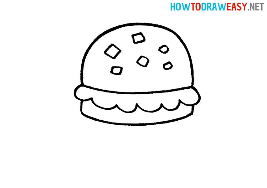 Draw a Krabby Patty