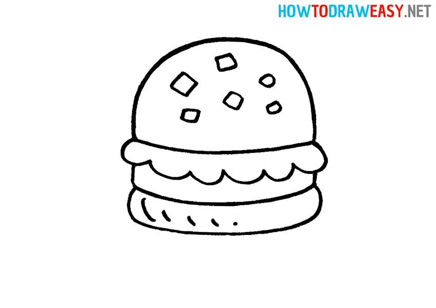 Drawing a Krabby Patty