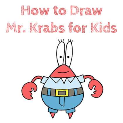 How to Draw Mr. Krabs Easy