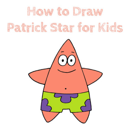 How to Draw Patrick Star for Kids Easy