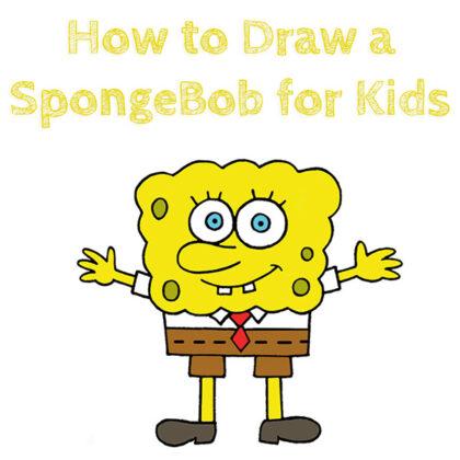 How to Draw SpongeBob for Kids Easy