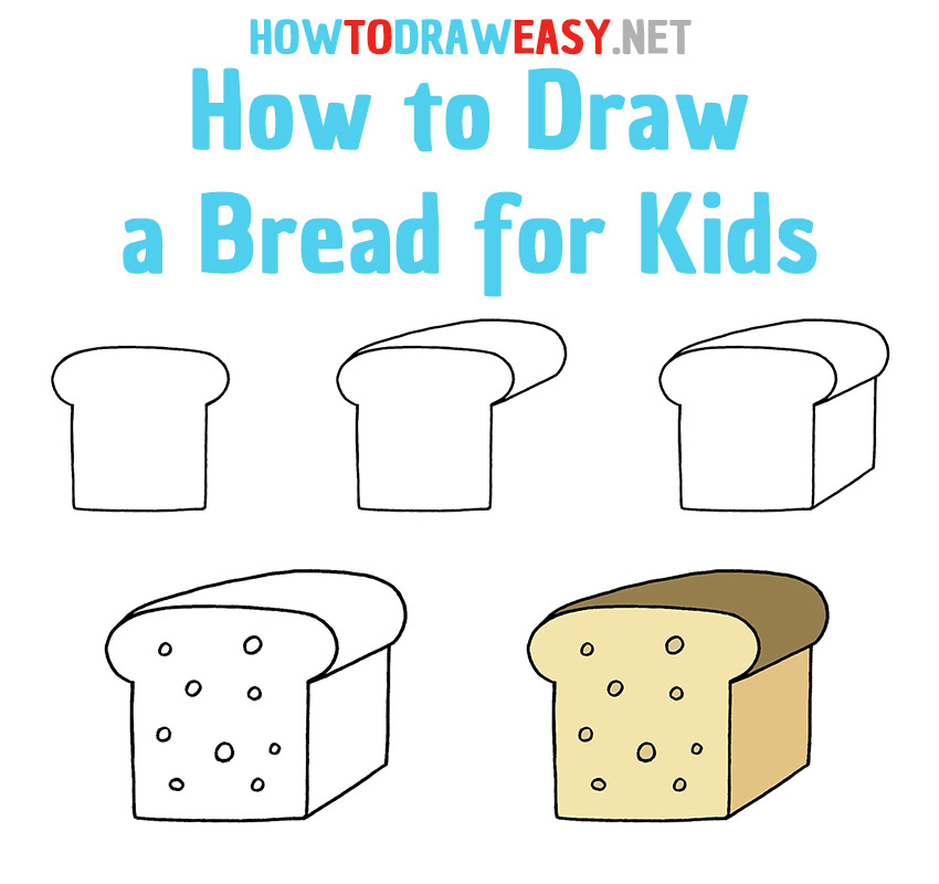 How to Draw a Bread Step by Step Easy