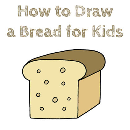 How to Draw a Bread for Kids Easy