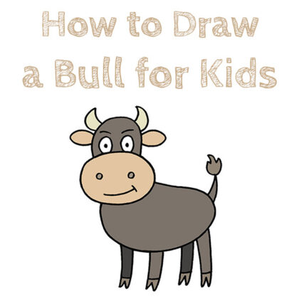 How to Draw a Bull for Kids Easy