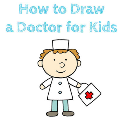 How to Draw a Doctor for Kids Easy