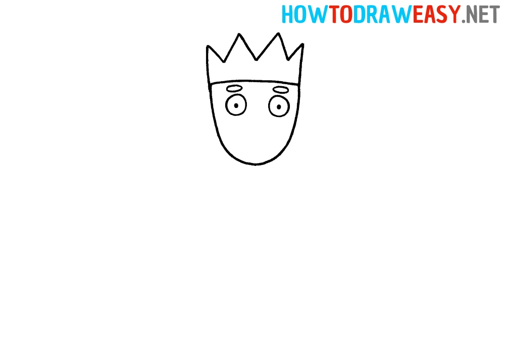 How to Draw a Head with a Crown
