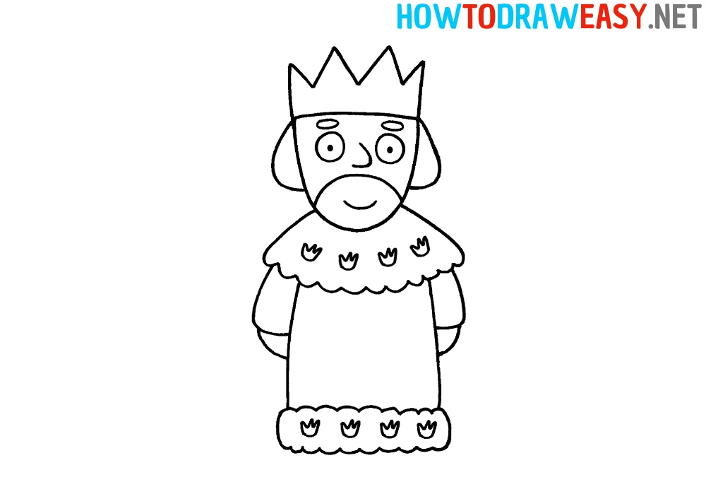 How to Draw a King Easy