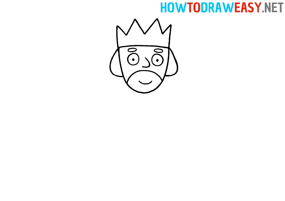How to Draw a King Face