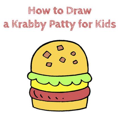 How to Draw a Krabby Patty Easy