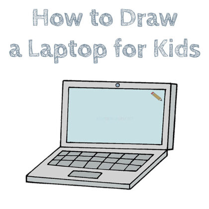How to Draw a Laptop Easy