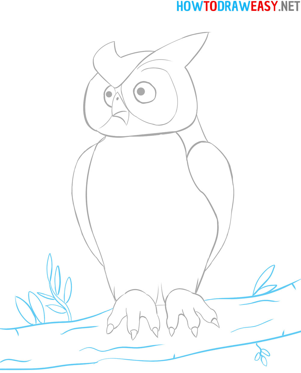 How to Draw an Owl   How to Draw Easy
