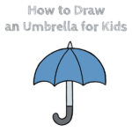 How to Draw an Umbrella for Kids