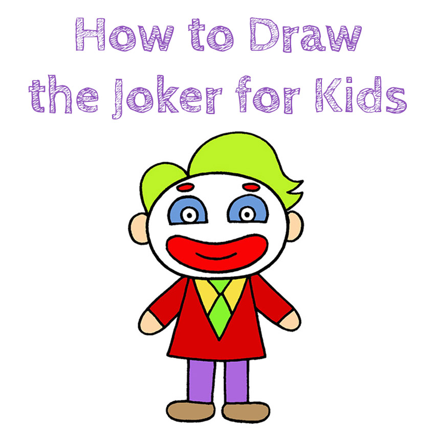 How to Draw the Joker for Kids