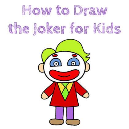 Joker Drawing for Kids