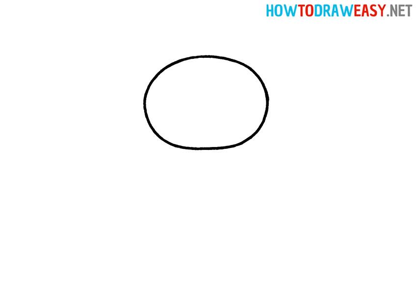 Joker Sketch Step 1