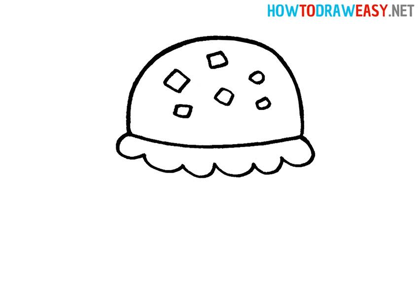 Krabby Patty Drawing Tutorial