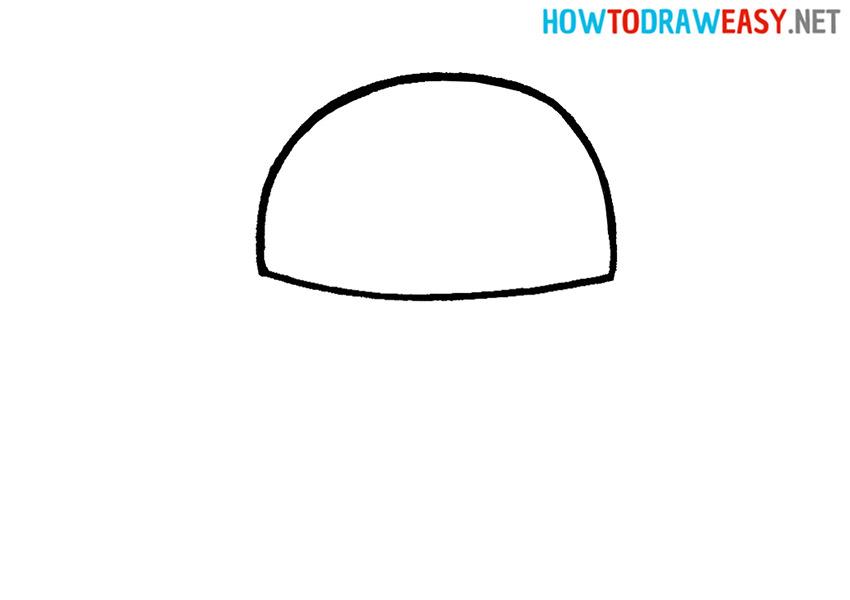 Krabby Patty Easy Drawing Tutorial