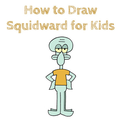 Laern how to Draw Squidward