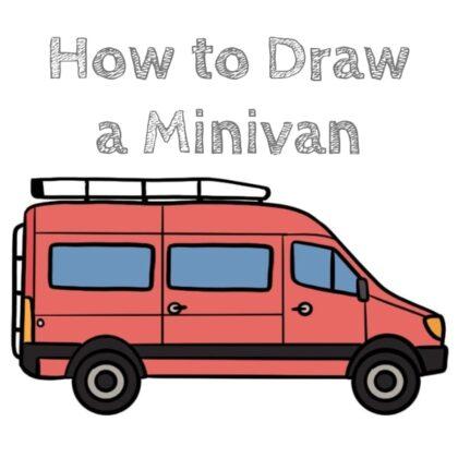 Minivan Car How to Draw