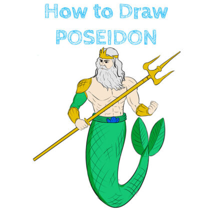 Poseidon How to Draw