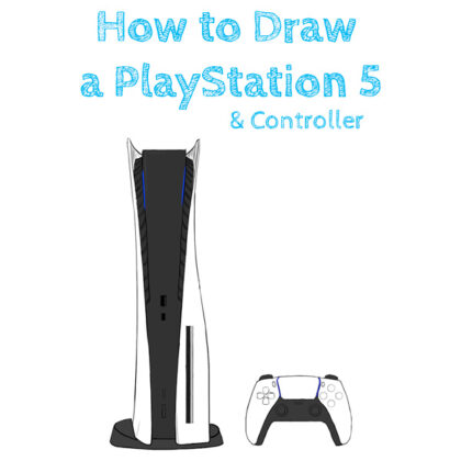Sony PlayStation 5 Easy How to Draw