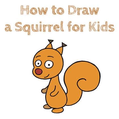 Squirrel How to Draw