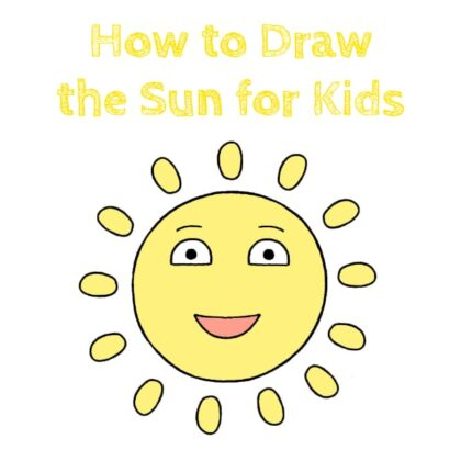 Sun Drawing for Kids Step by Step