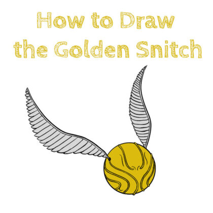 how to draw golden snitch