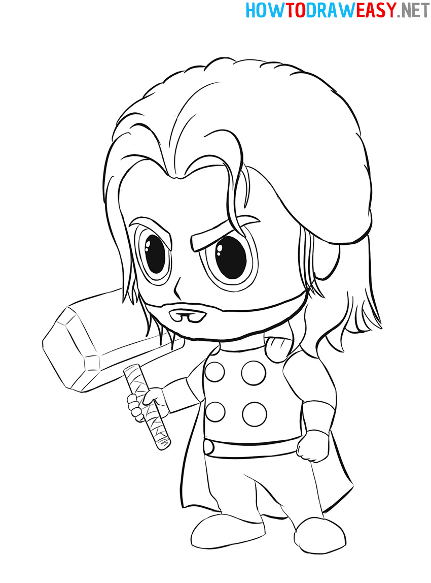 Chibi Thor Drawing