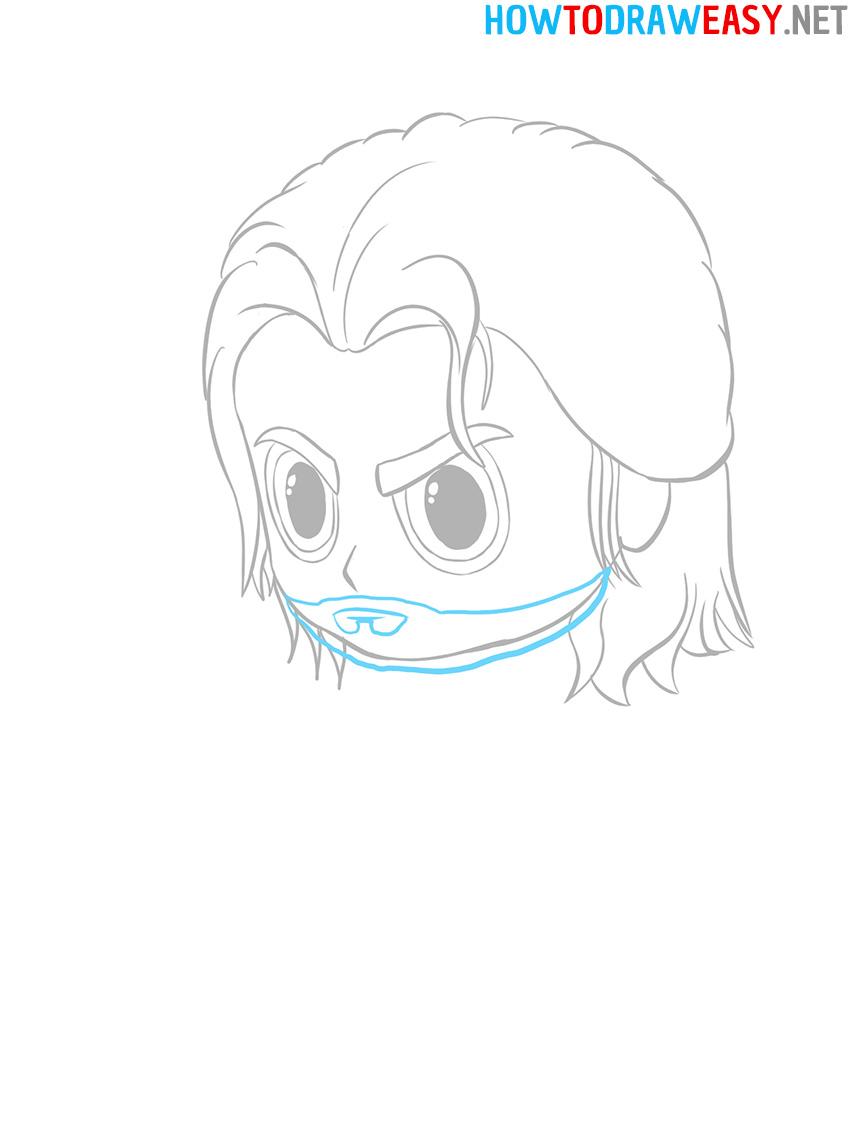 Chibi Thor Face Drawing