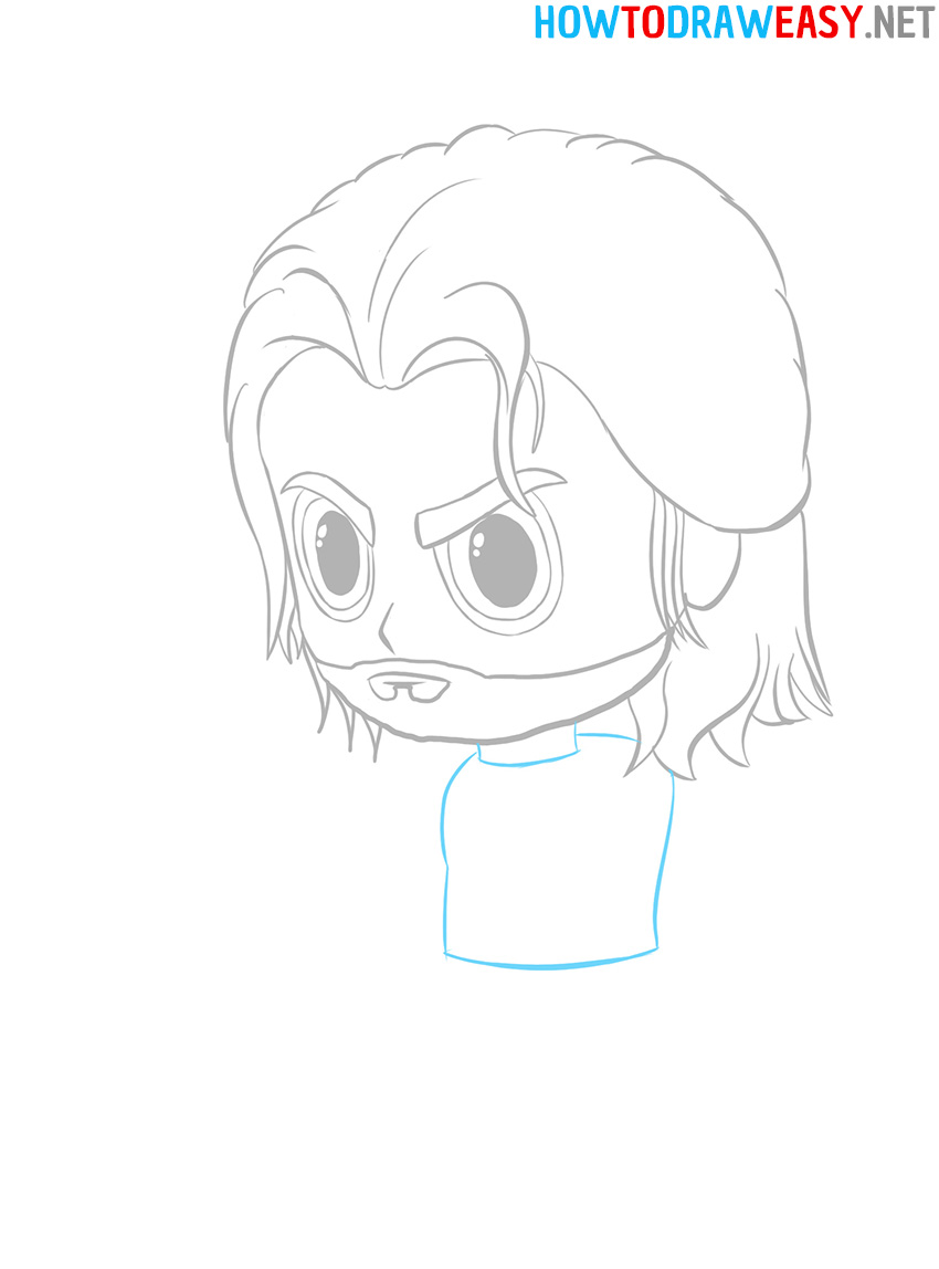 Chibi Thor Step by Step Drawing