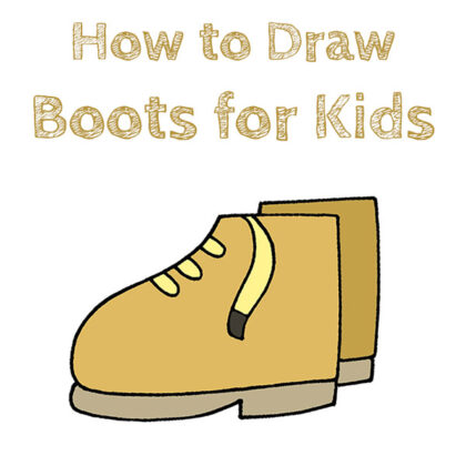 How to Draw Boots for Kids Easy