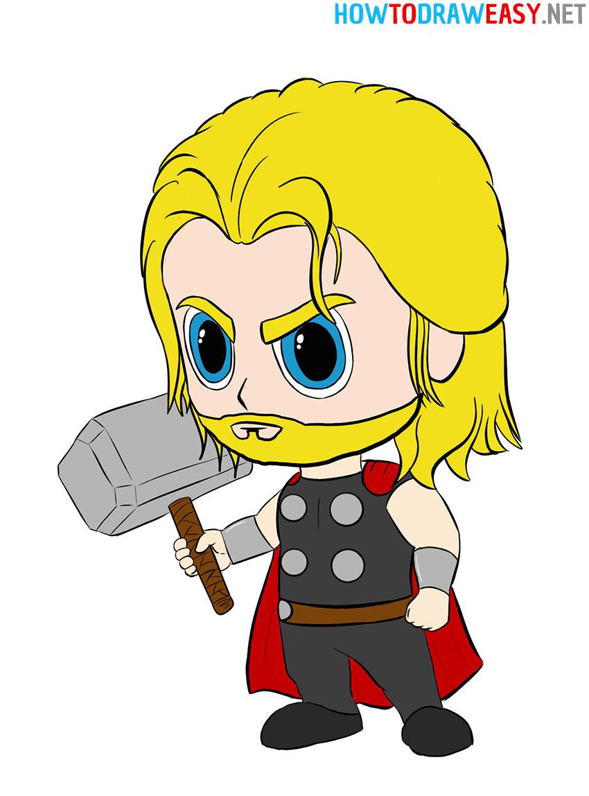 How to Draw Chibi Thor