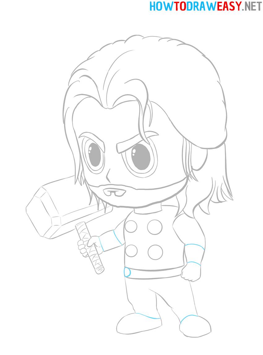 How to Draw a Cartoon Thor