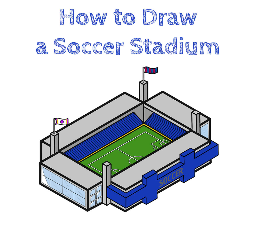 How to Draw a Soccer Stadium