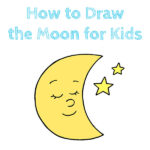 How to Draw the Moon for Kids