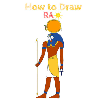 How to Draw the god of the son from Ancient Egypt