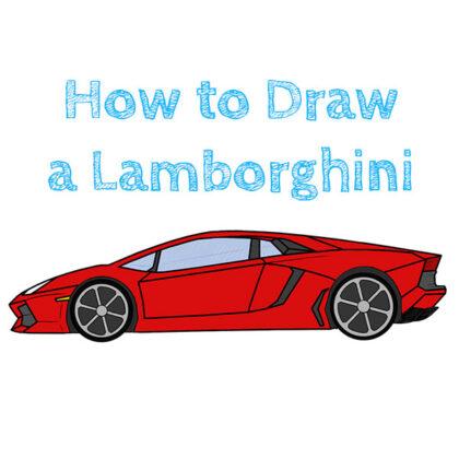 Lamborghini how to draw